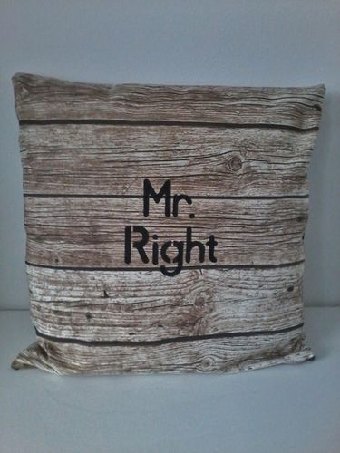 Kussen Mr Right